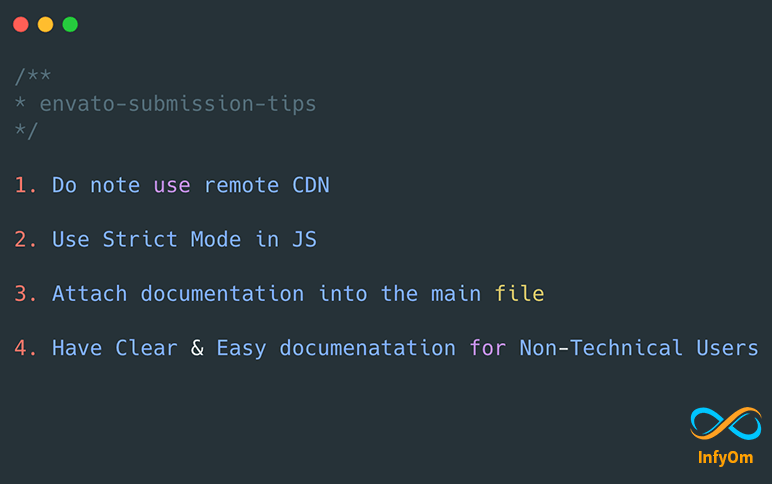 Things/Tips to Remember while submitting your first Envato CodeCyan App