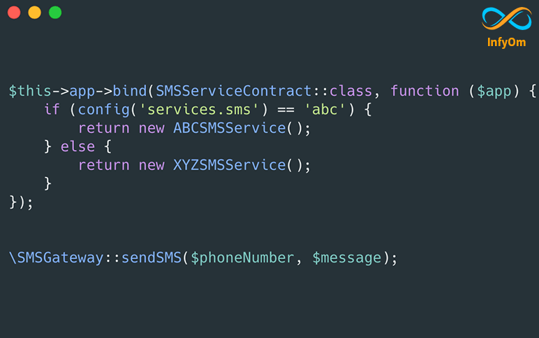 SMS Driver with Laravel Facades and Service Providers
