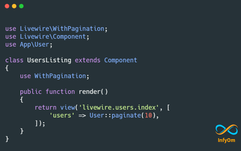 How to build Pagination with Laravel Livewire