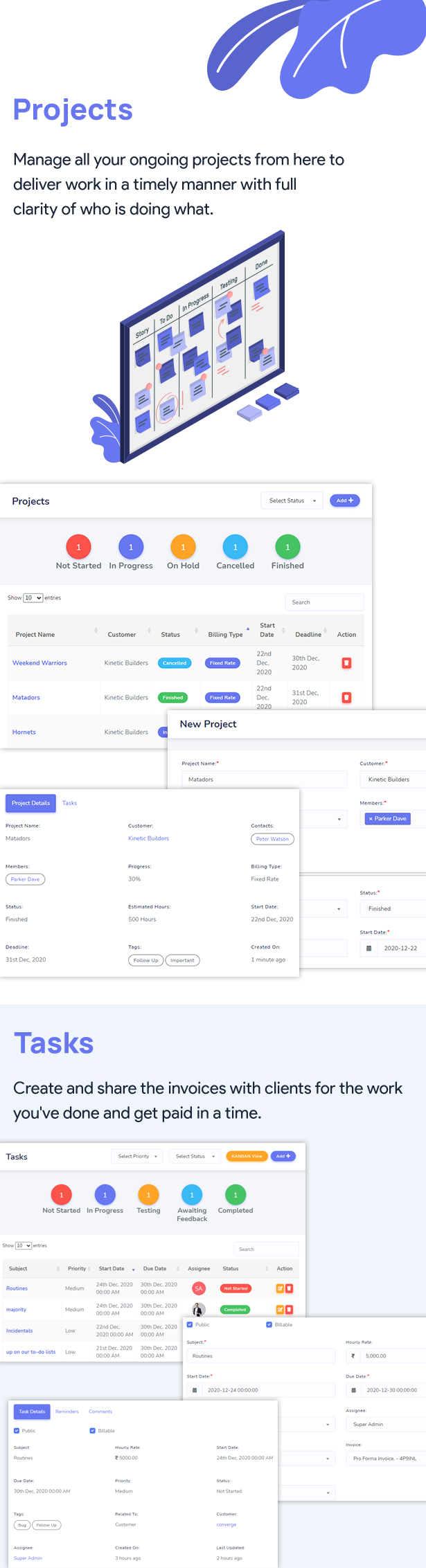 InfyCRM Features 2